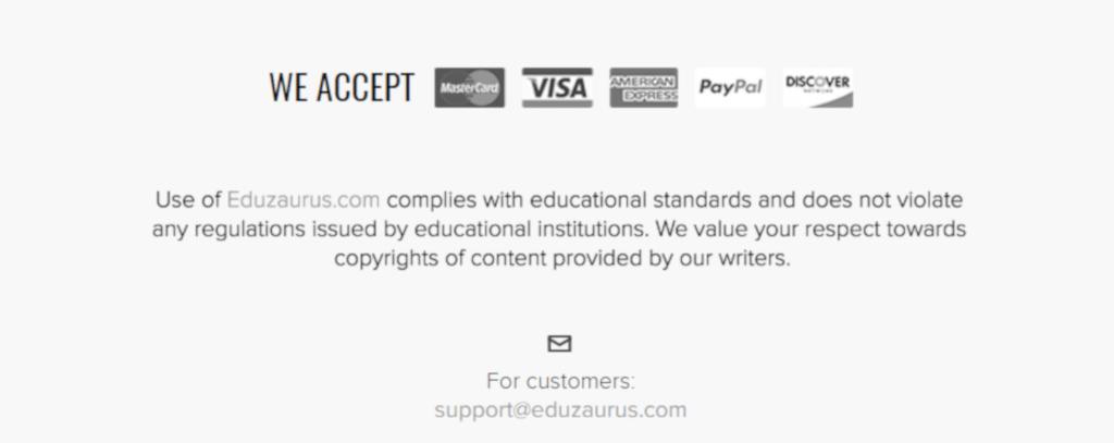 eduzaurus payment