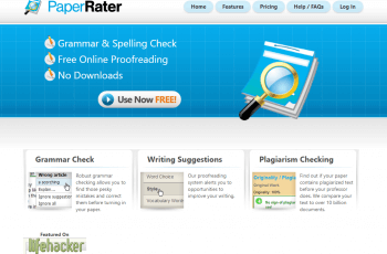 PaperRater Mainpage