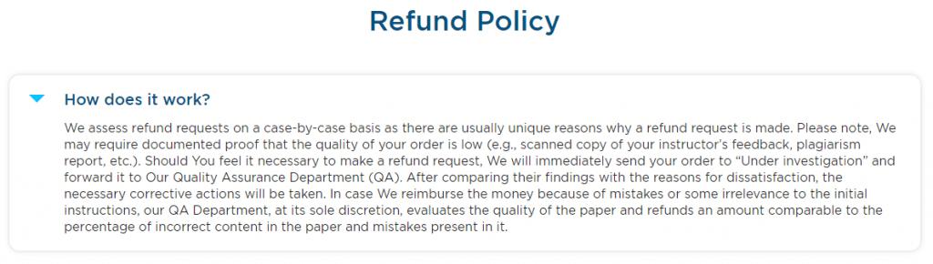 EduBirdie Refund Policy