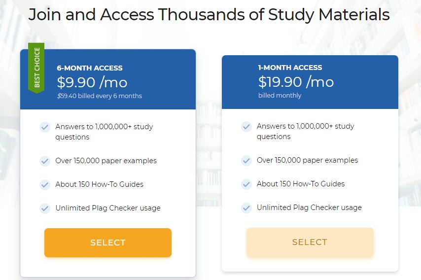 StudyHippo Prices